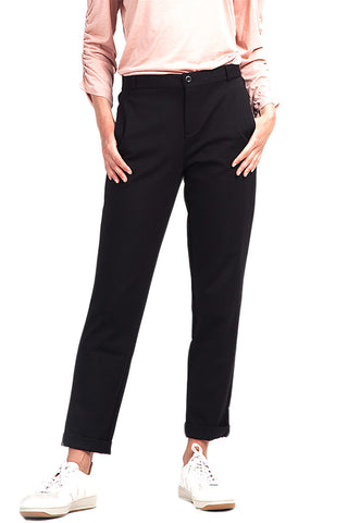 Black pin stripe pants