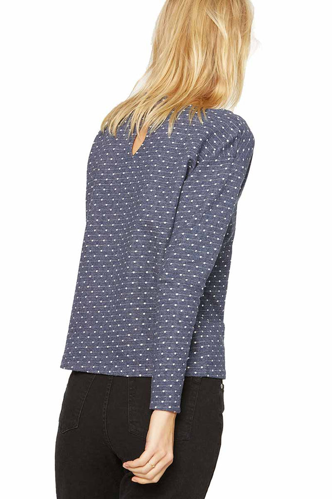 ArmedAngels Noa Dotted bow navy trui organic cotton | Sophie Stone