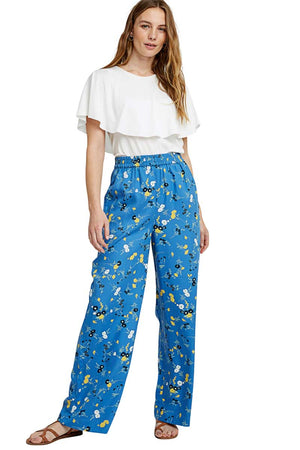People Tree Paige Floral Tencel pants | Sophie Stone