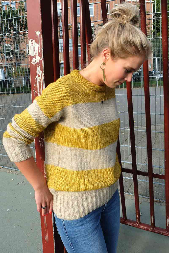 Recycled wool mix stripe sweat | Sophie Stone