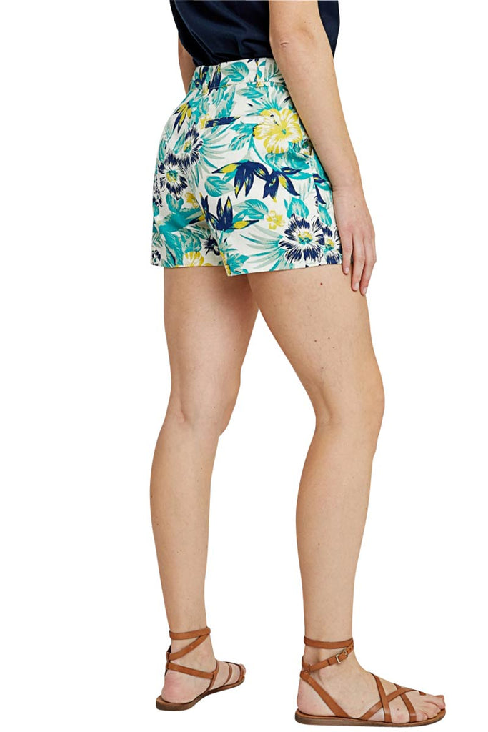 People Tree Rhea Tropical shorts turquoise | Sophie Stone