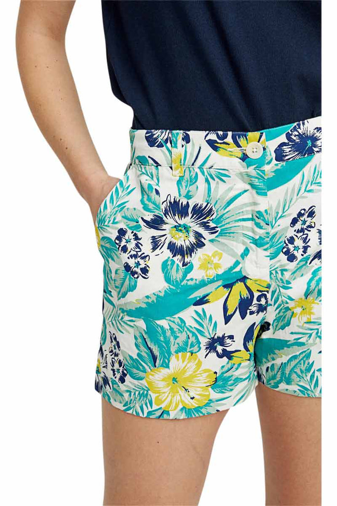 People Tree Rhea Tropical shorts blauw | Sophie Stone