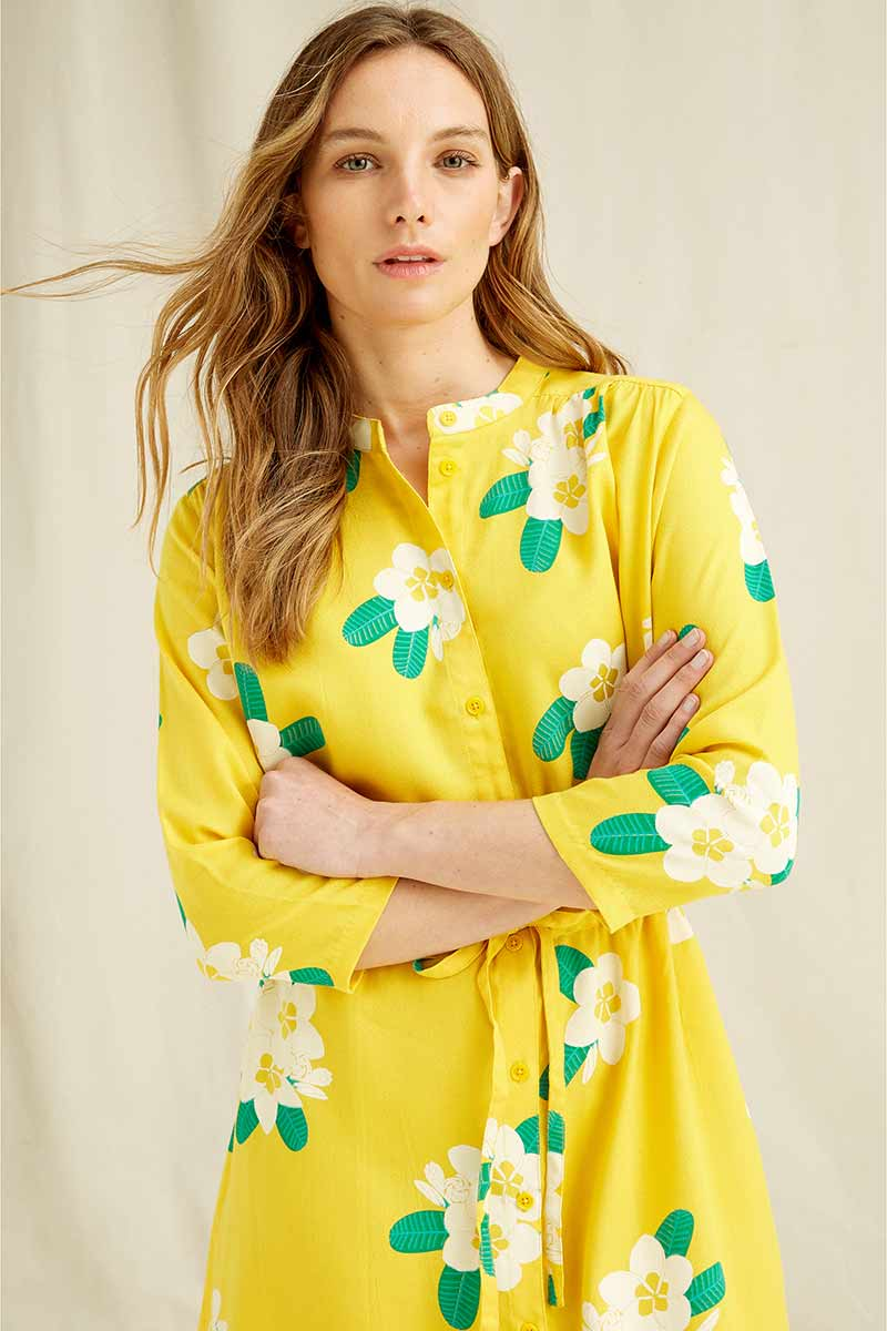 People Tree Savannah Plumeria Shirt Dress | Sophie Stone