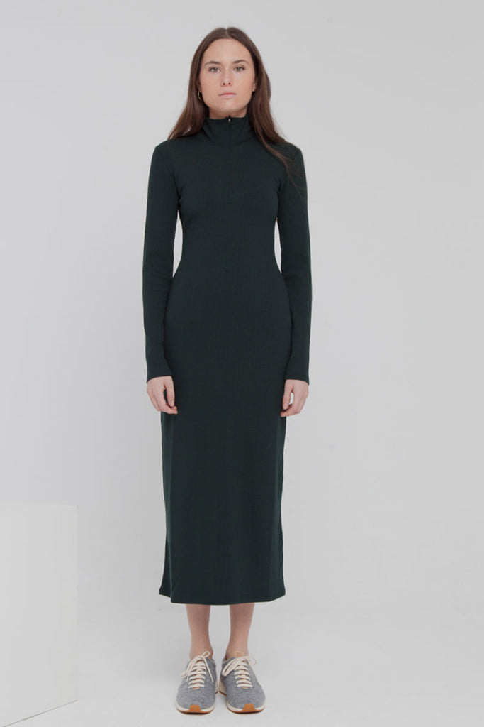 ThinkingMU Scarab green rib dress  | Sophie Stone