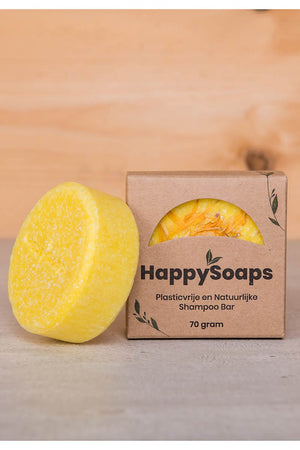 HappySoaps Chamomile Down & Carry On shampoo bar | Sophie Stone