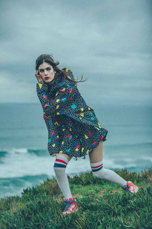 Insane in the Rain Throwing Shapes happy jacket regenjas | Sophie Ston