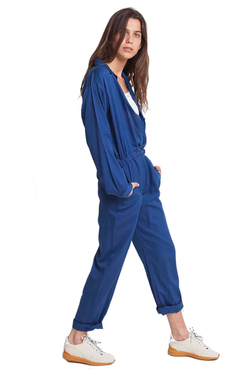 Thinking MU Blue Tomboy Jumpsuit | Sophie Stone