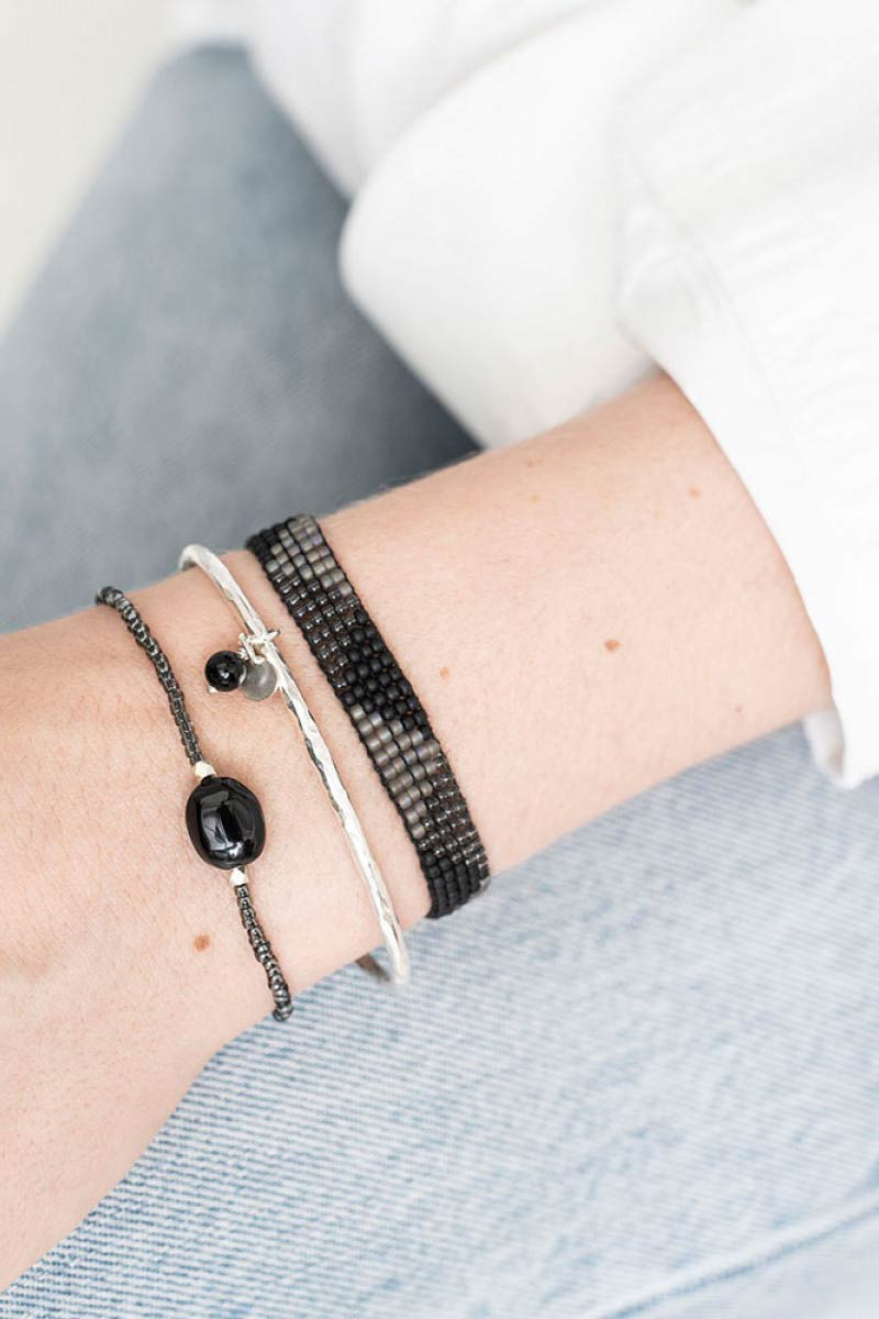 A Beautiful Story Winter Black Onyx zilver | Sophie Stone