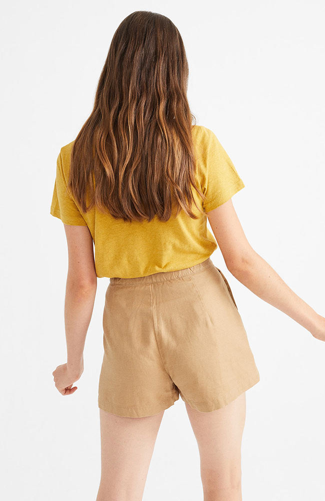 Thinking MU Camel Hemp Narciso shorts | Sophie Stone