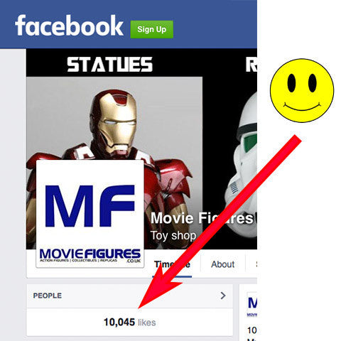 Movie Figures Hits 10,000 likes on Facebook!