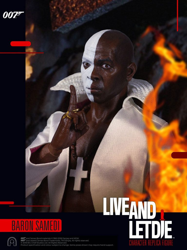 BIG Chief Studios James Bond Live and Let Die Baron Samedi 1/6 Action Figure