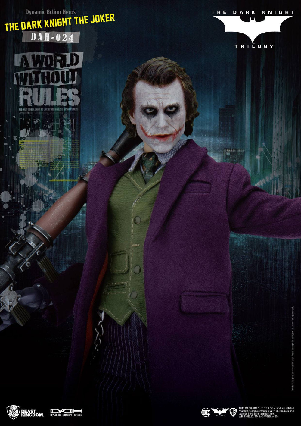 Beast Kingdom Batman The Dark Knight The Joker Dynamic 8ction Heroes 1/9 Action Figure