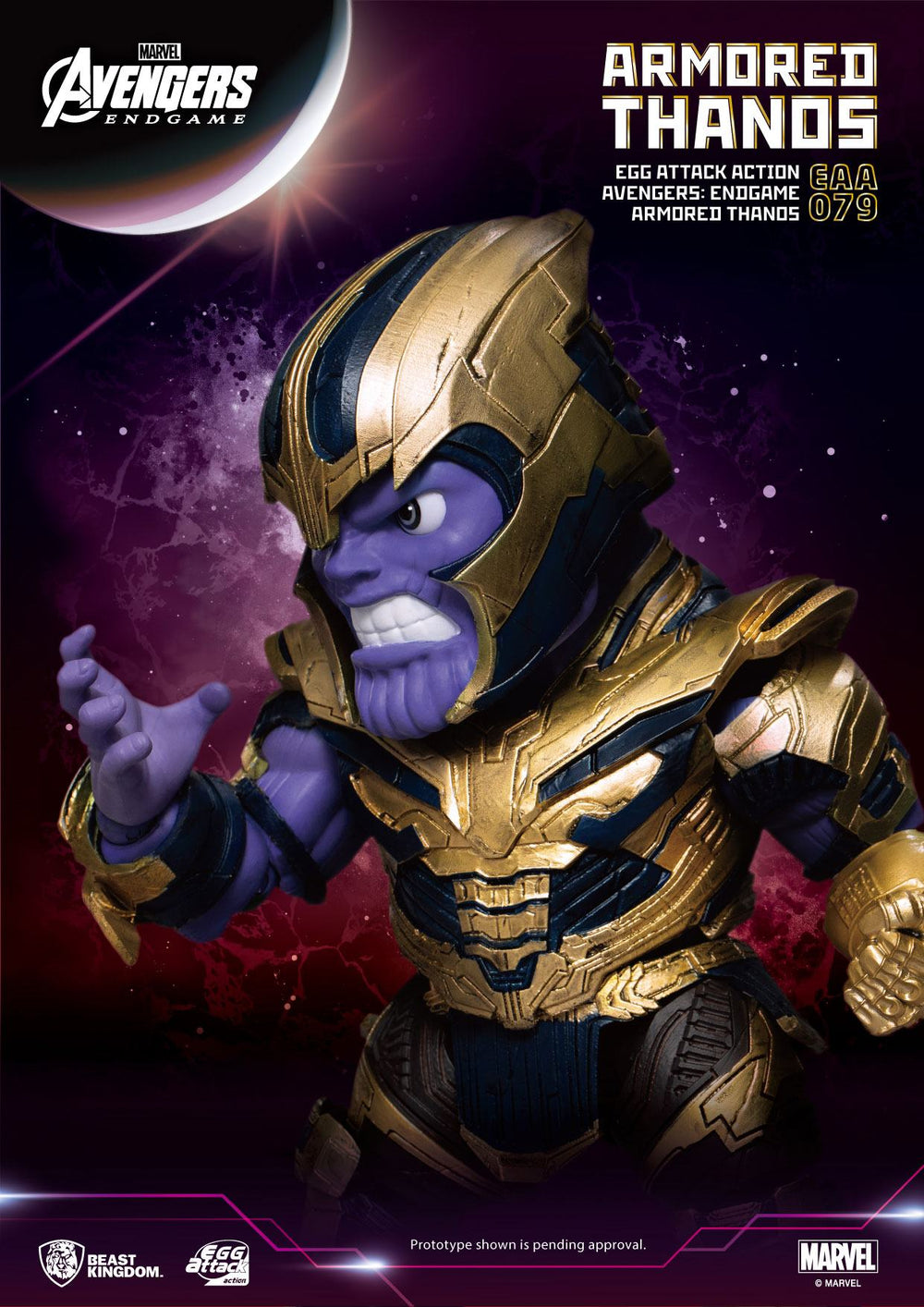 Beast Kingdom Avengers: Endgame Armored Thanos Egg Attack Action Figure