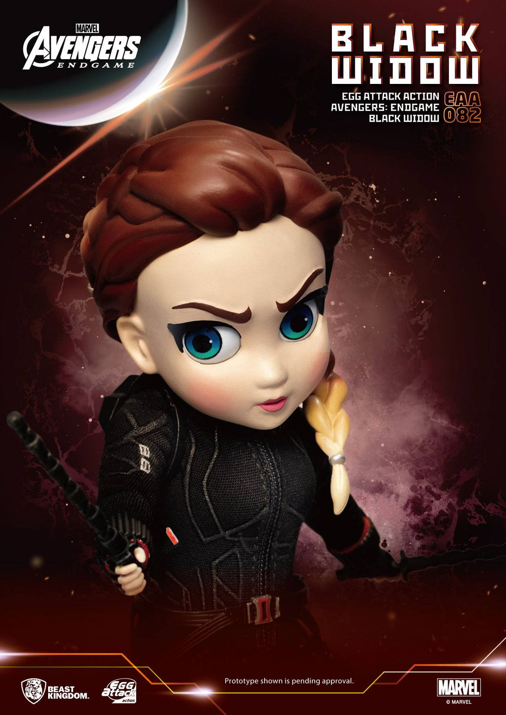 Beast Kingdom Avengers: Endgame Black Widow Egg Attack Action Figure