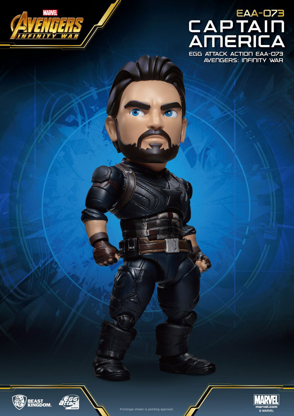 Beast Kingdom Avengers: Infinity War Captain America Egg Attack Action Figure