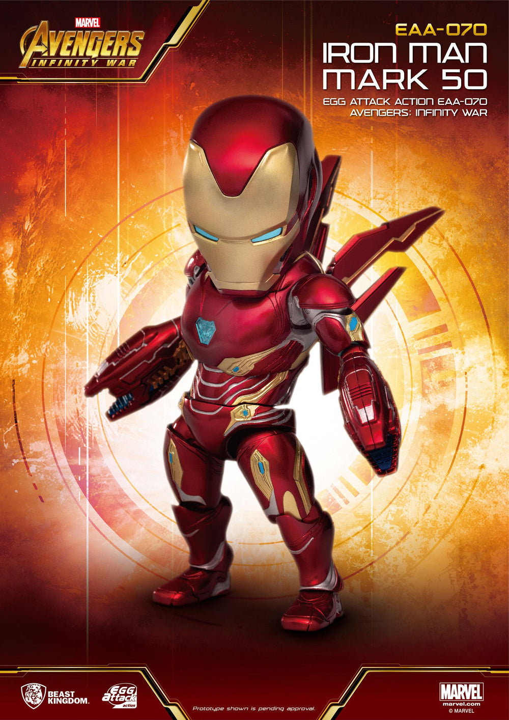Beast Kingdom Avengers: Infinity War Iron Man Mark 50 Egg Attack Action Figure