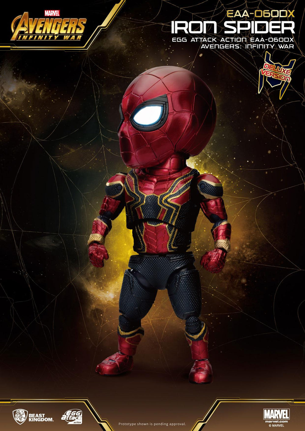 Beast Kingdom Avengers: Infinity War Iron Spider Deluxe Version Egg Attack Action Figure