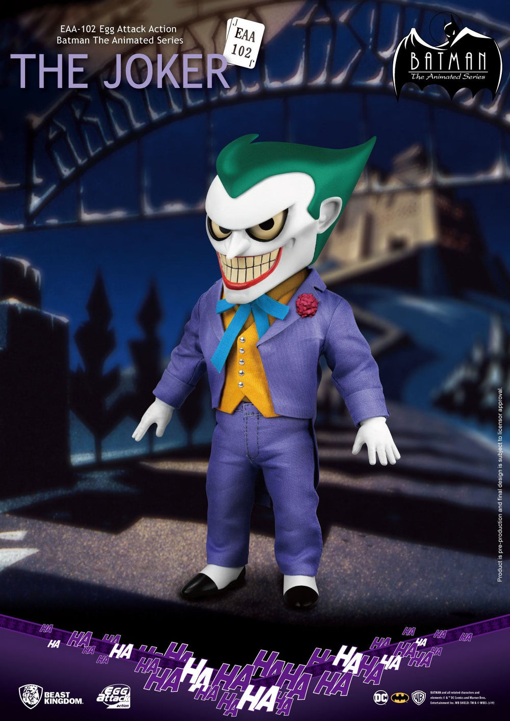 Beast Kingdom Batman The Animated Series Joker Egg Attack Action Figure