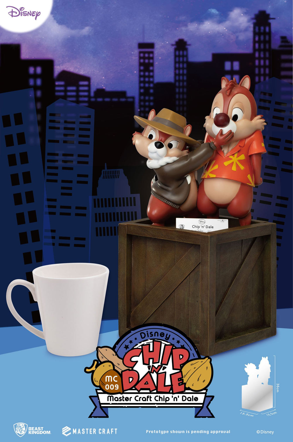 Beast Kingdom Disney Chip 'n Dale: Rescue Rangers Master Craft Statue