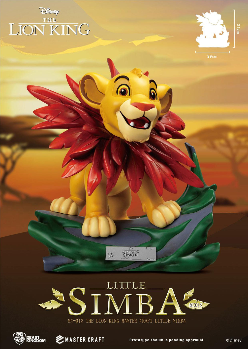 Beast Kingdom Disney The Lion King Little Simba Master Craft 1/4 Statue