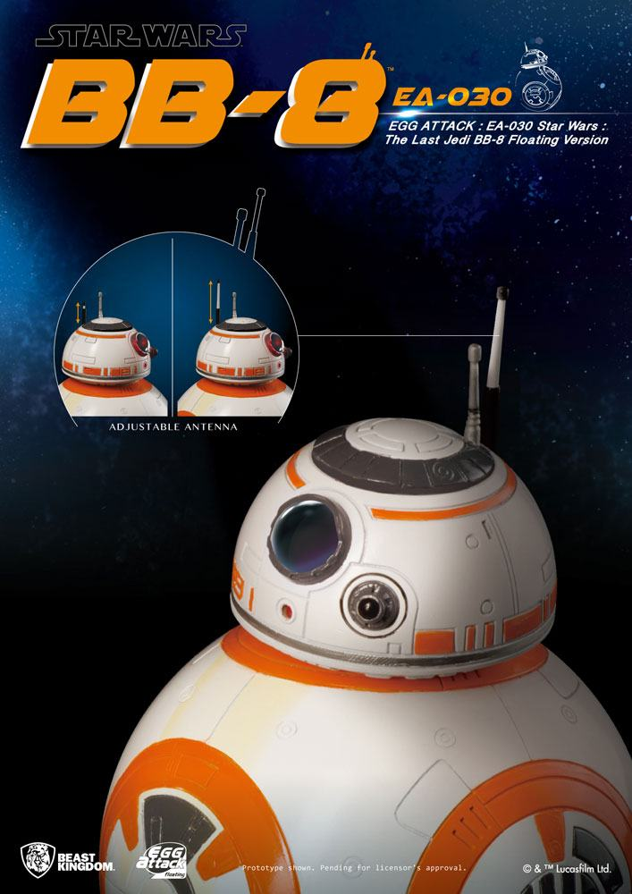 Beast Kingdom Star Wars Episode VIII BB-8 Egg Attack Floating Model