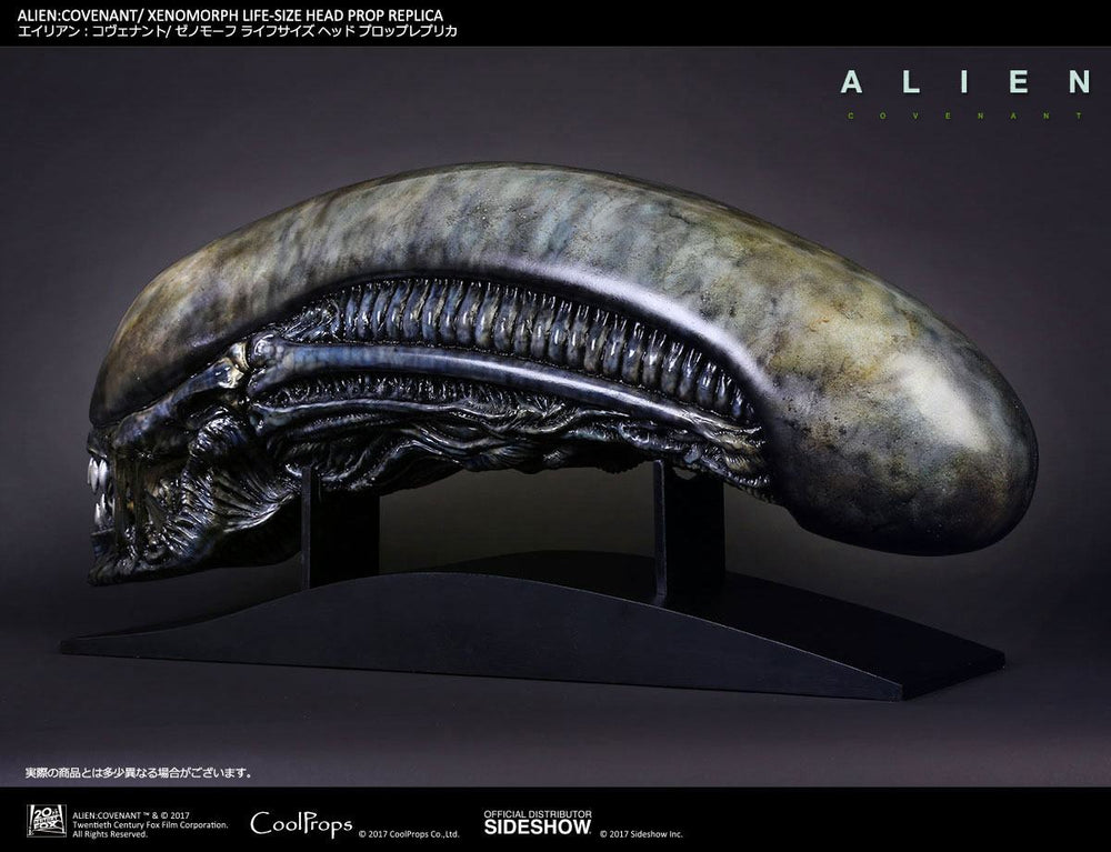 CoolProps Alien Covenant Xenomorph Head 1/1 Prop Replica