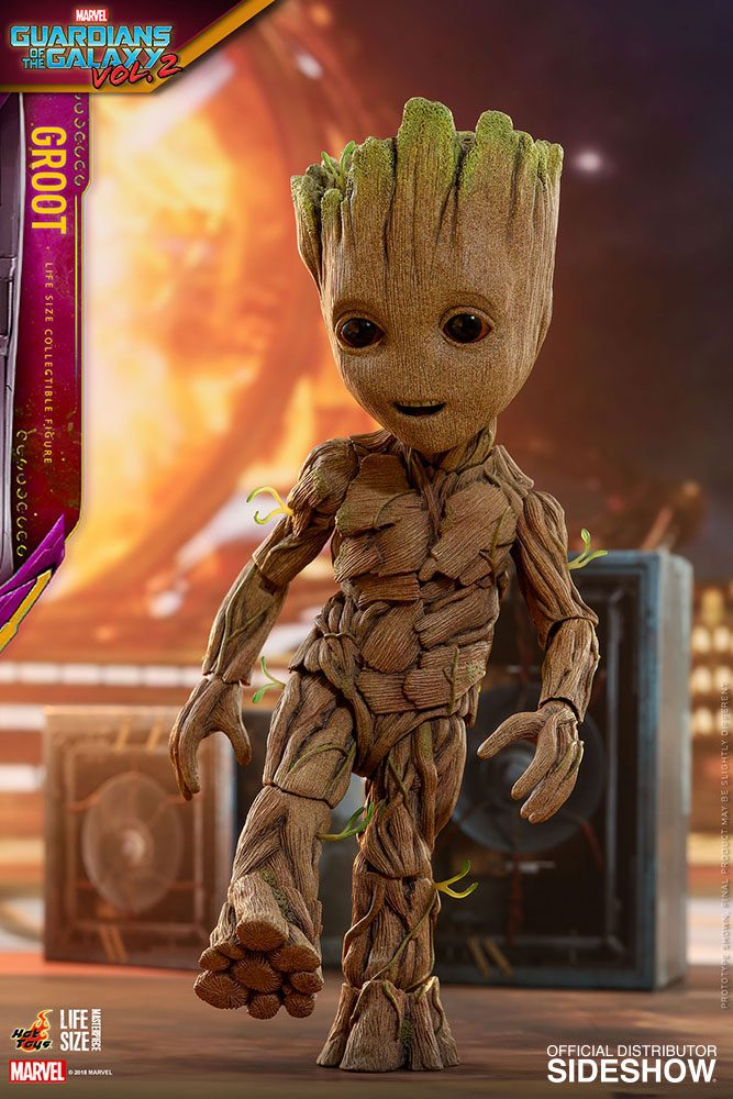 Hot Toys Guardians Of The Galaxy Vol. 2 Groot Slim Version Life-Size 1/1 Action Figure