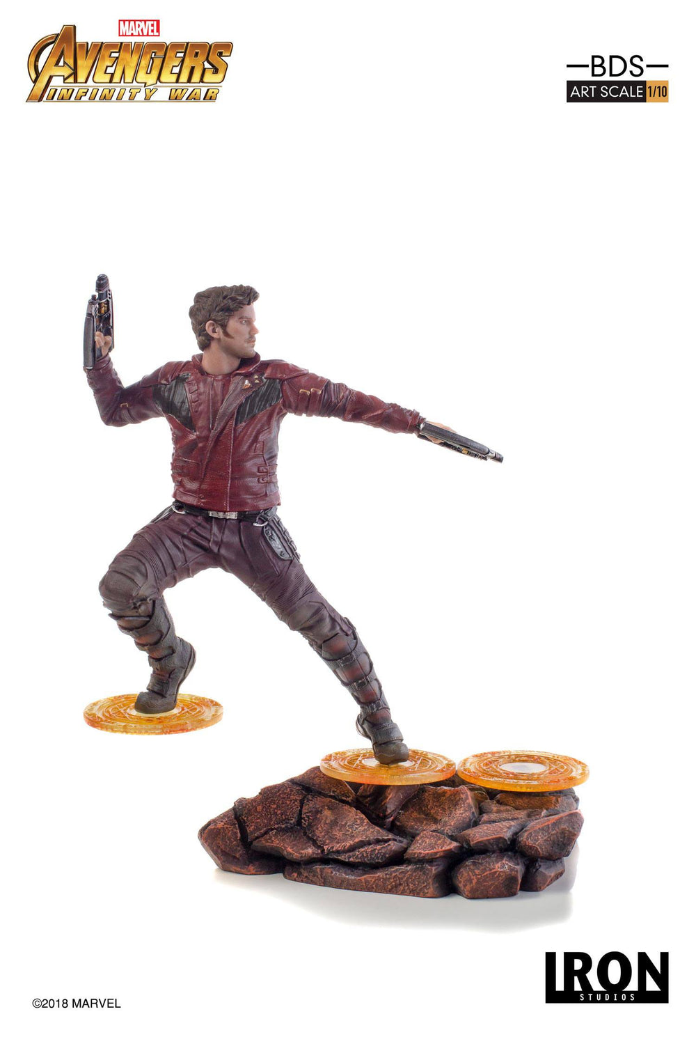 Iron Studios Avengers: Infinity War Star-Lord Battle Diorama Series 1/10 Statue
