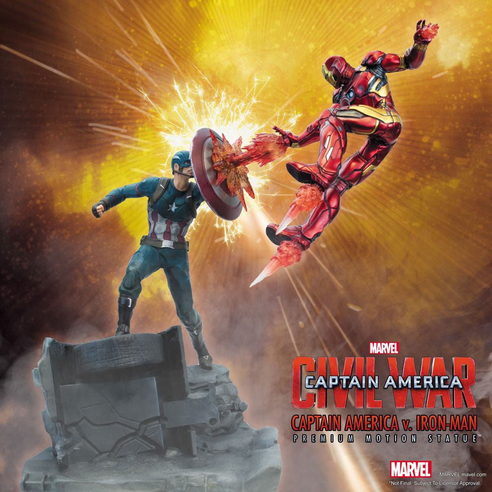 Factory Entertainment Captain America Civil War Captain America vs Iron Man Statue