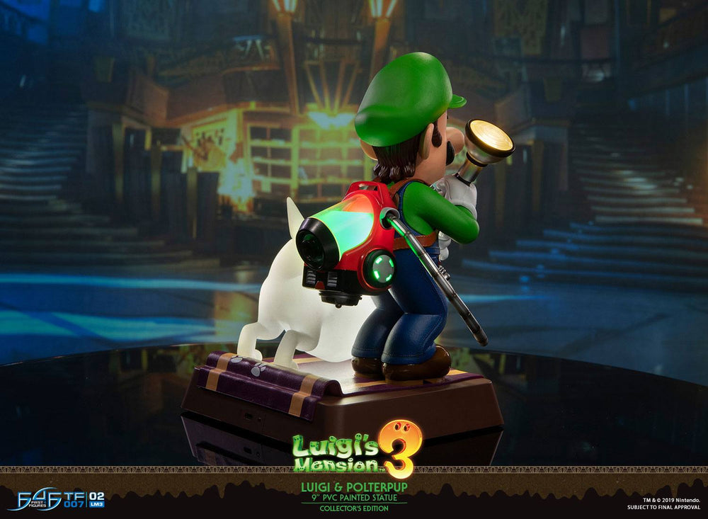 First 4 Figures Luigi's Mansion 3 Luigi & Polterpup Collector's Edition PVC Statue
