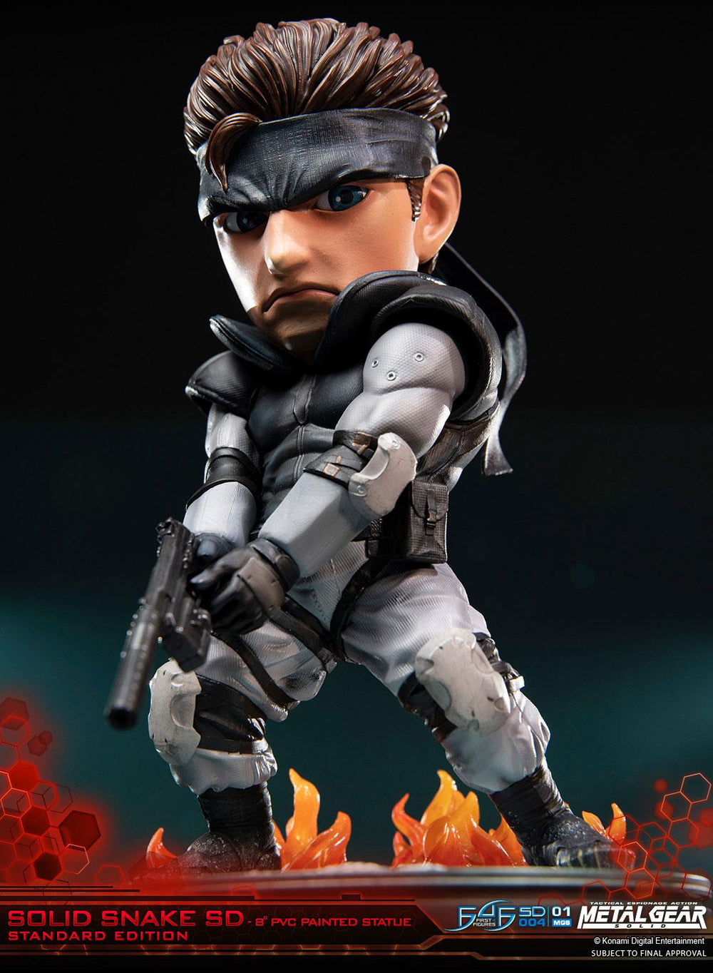 First 4 Figures Metal Gear Solid Solid Snake SD PVC Statue