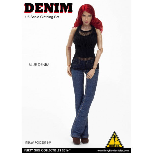 Flirty Girl Collectibles Denim Jeans Outfit Set 1/6 Clothing Outfit - Movie Figures - 3