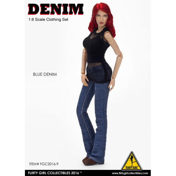 Flirty Girl Collectibles Denim Jeans Outfit Set 1/6 Clothing Outfit - Movie Figures - 4