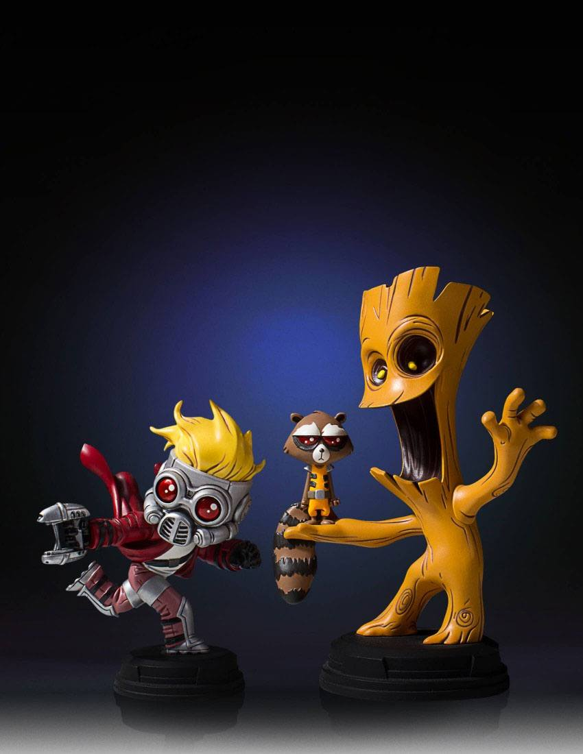 Gentle Giant Animated Series Marvel Comics Groot & Rocket Mini-Statue