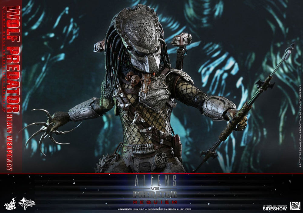 Hot Toys Alien vs. Predator Requiem Wolf Predator (Heavy Weaponry) 1/6 Action Figure