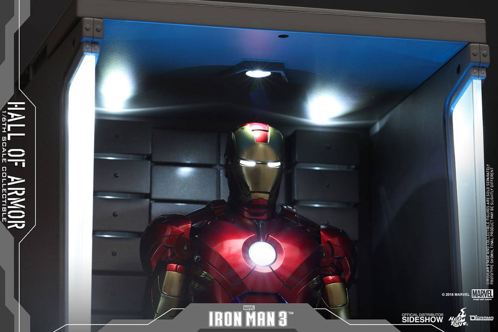 Hot Toys Avengers Iron Man 3 Hall of Armor 1/6 Diorama
