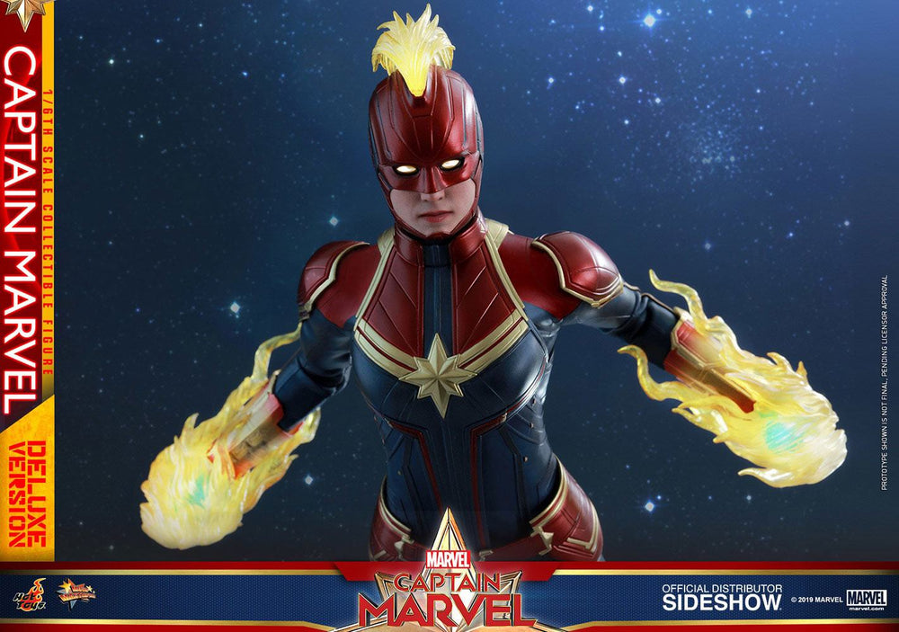 Hot Toys Captain Marvel Movie Captain Marvel Deluxe Version 1/6 Action Figure