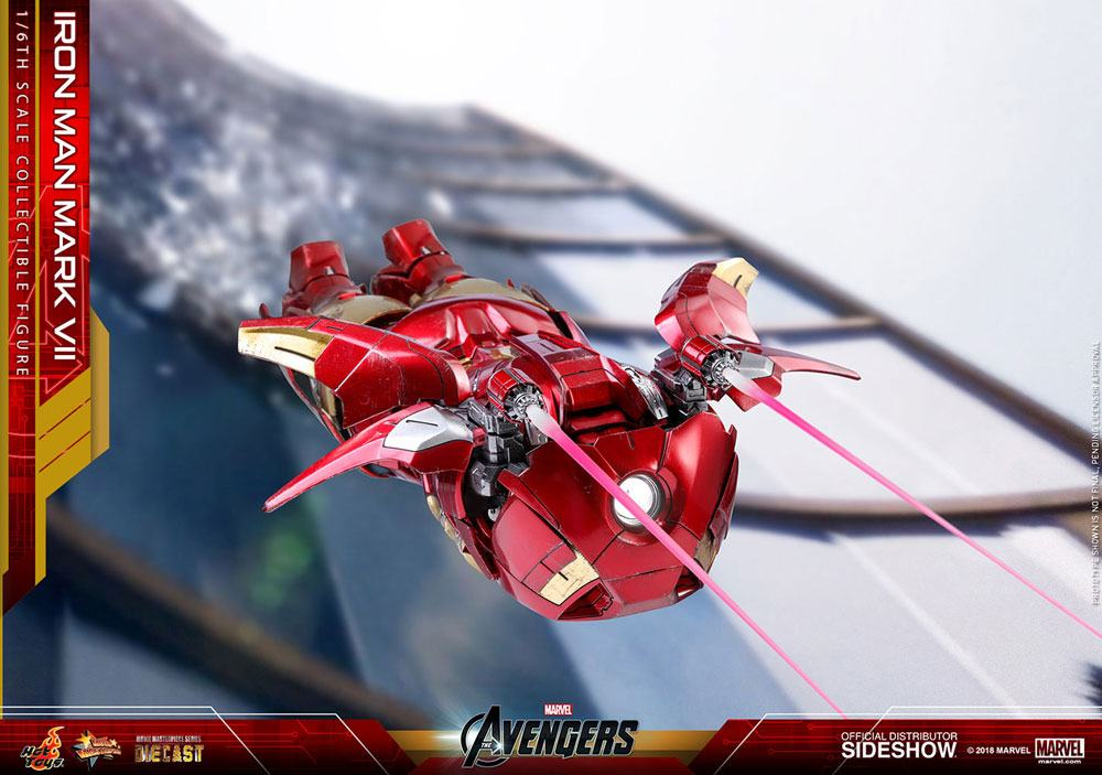 Hot Toys Marvel The Avengers Iron Man Mark VII Diecast 1/6 Action Figure