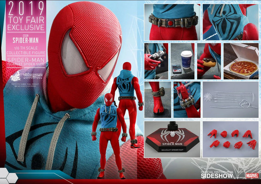 Hot Toys Marvel's Spider-Man Video Game Scarlet Spider Suit (2019 Toy Fair Exclusive) 1/6 Action Figure