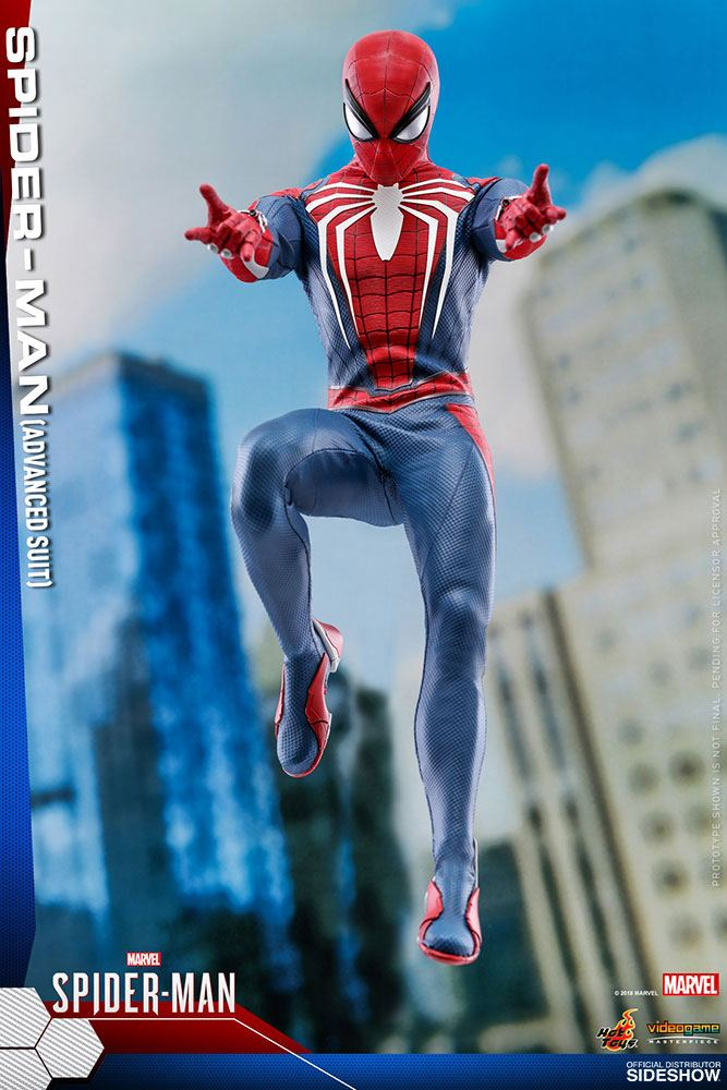 Hot Toys Marvel's Spider-Man Video Game Spider-Man Advanced Suit 1/6 Action Figure