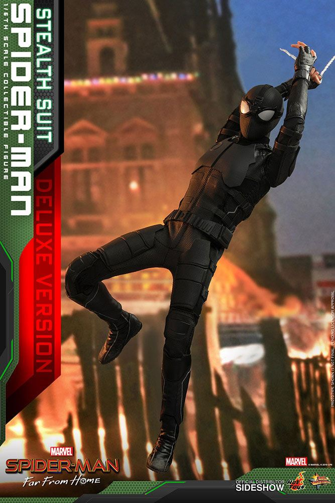 Hot Toys Spider-Man: Far From Home Spider-Man (Stealth Suit) Deluxe Version 1/6 Action Figure