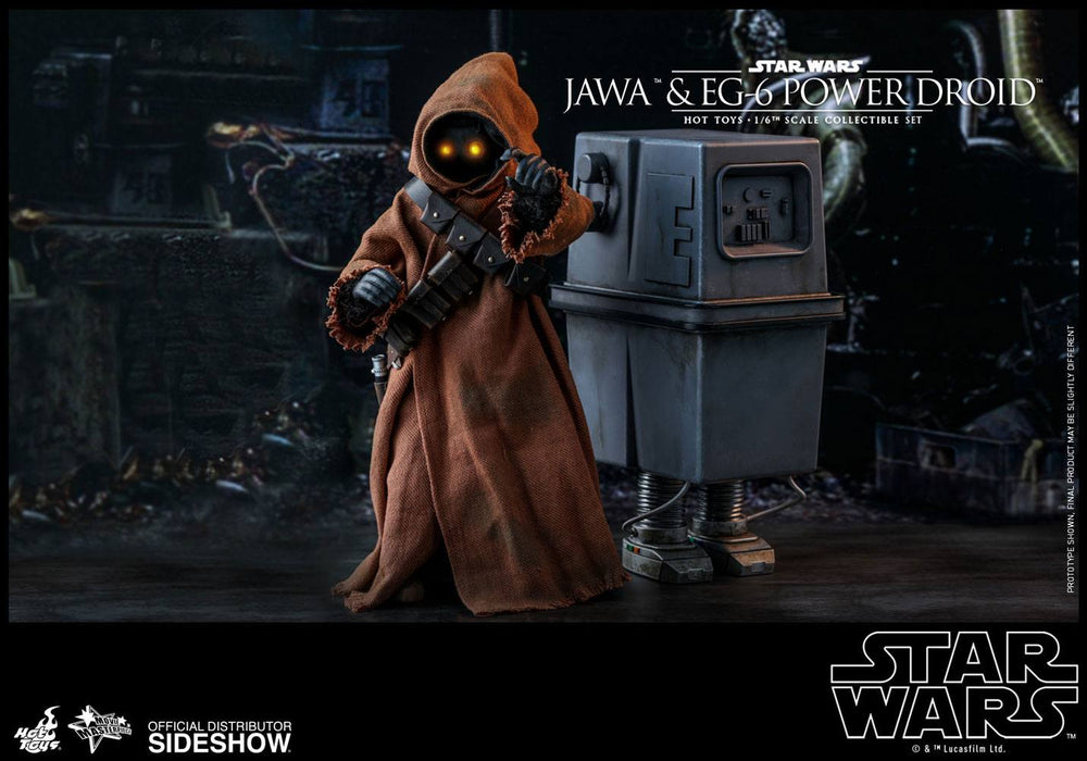 Hot Toys Star Wars Episode IV Jawa & EG-6 Power Droid 1/6 Action Figure 2-Pack