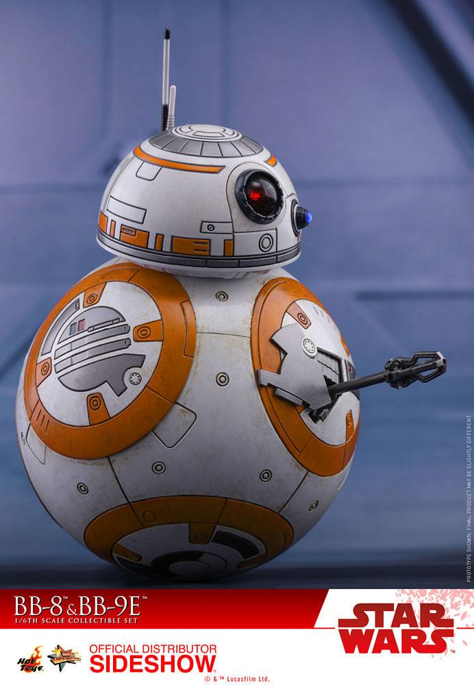 Hot Toys Star Wars Episode VIII BB-8 & BB-9E 1/6 Action Figure 2-Pack