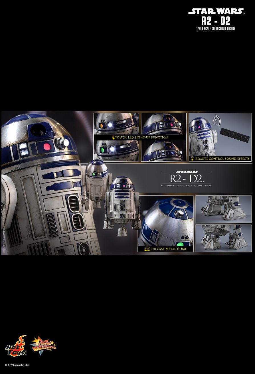Hot Toys Star Wars: The Force Awakens R2-D2 1/6 Action Figure - Movie Figures - 11