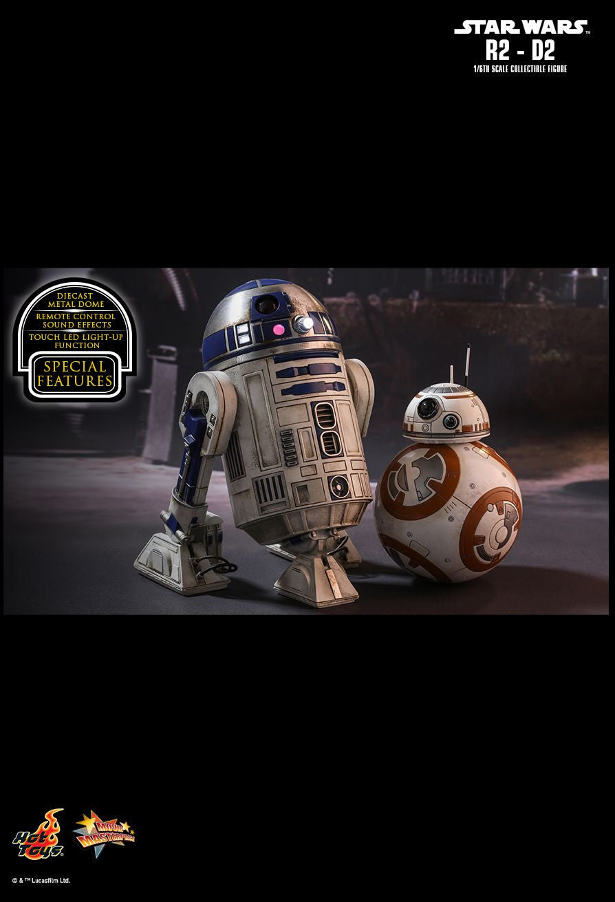 Hot Toys Star Wars: The Force Awakens R2-D2 1/6 Action Figure - Movie Figures - 14