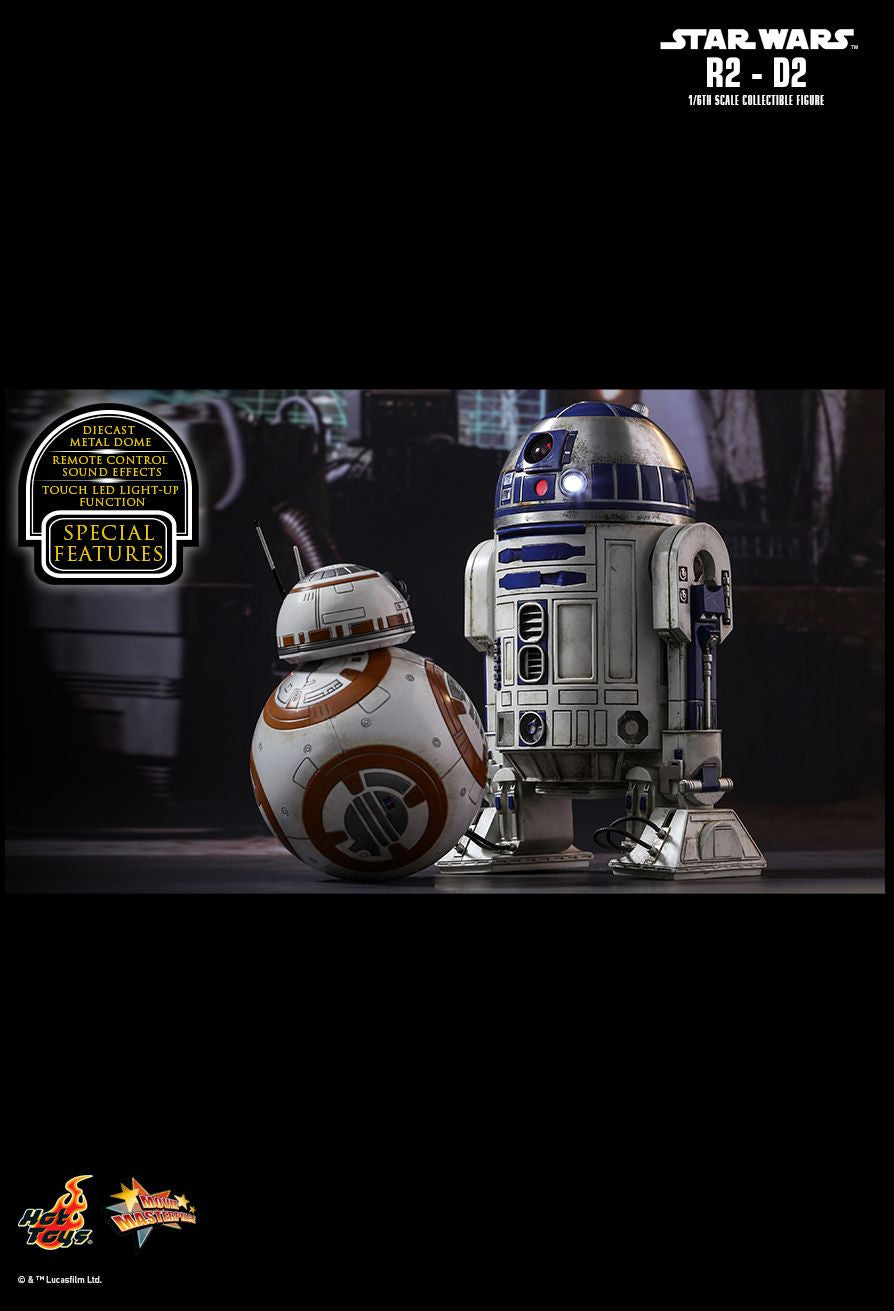 Hot Toys Star Wars: The Force Awakens R2-D2 1/6 Action Figure - Movie Figures - 9