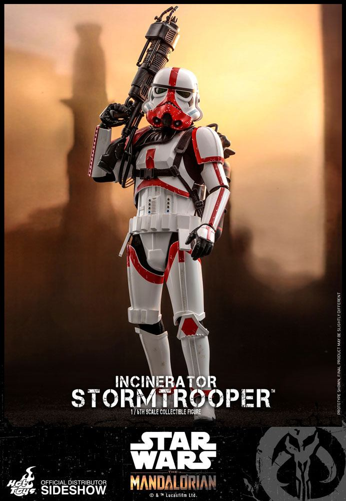 Hot Toys Star Wars The Mandalorian Incinerator Stormtrooper 1/6 Action Figure