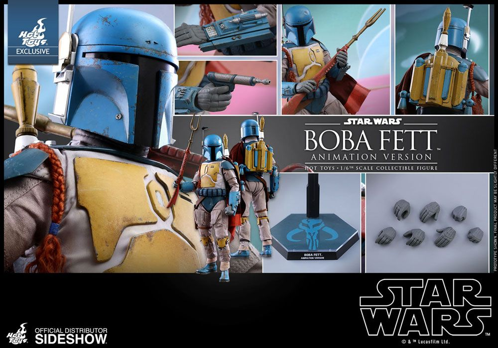 Hot Toys Star Wars Boba Fett Animation Version Sideshow Exclusive 1/6 Action Figure