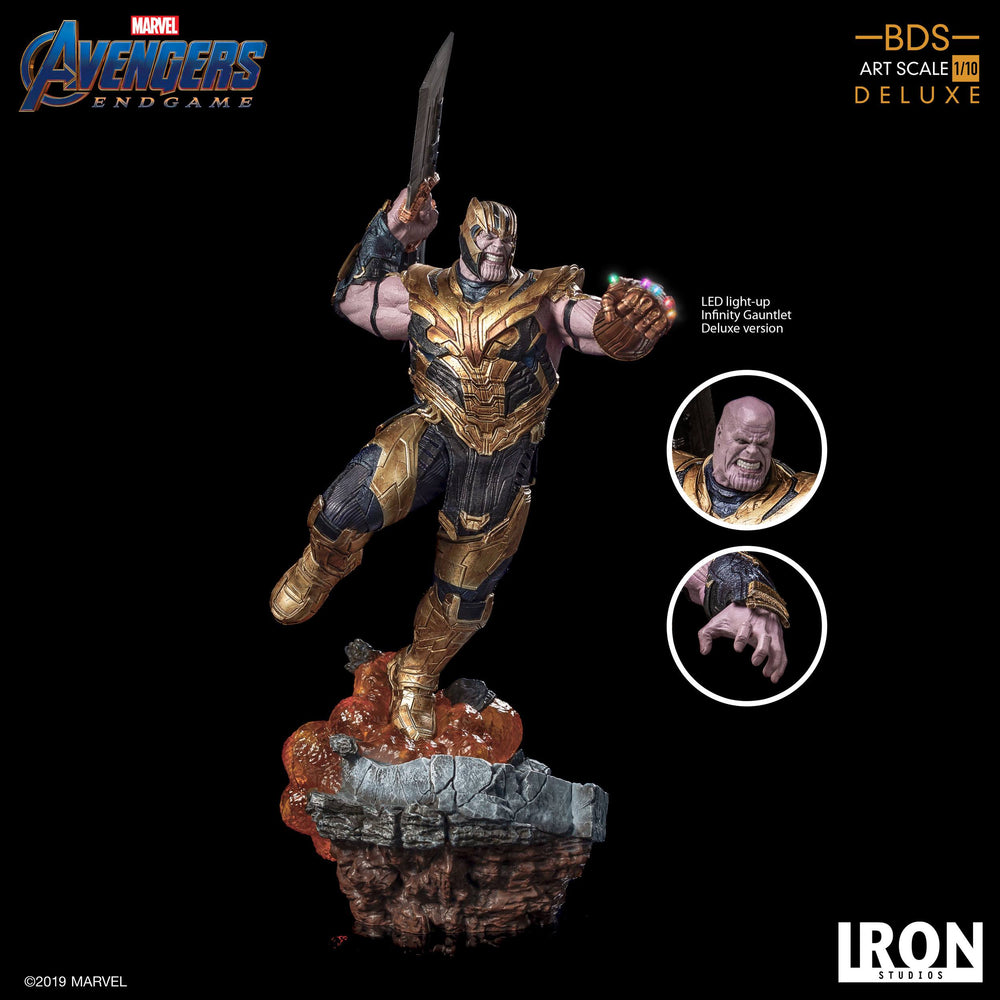 Iron Studios Avengers: Endgame Thanos Deluxe Version Battle Diorama Series 1/10 Statue