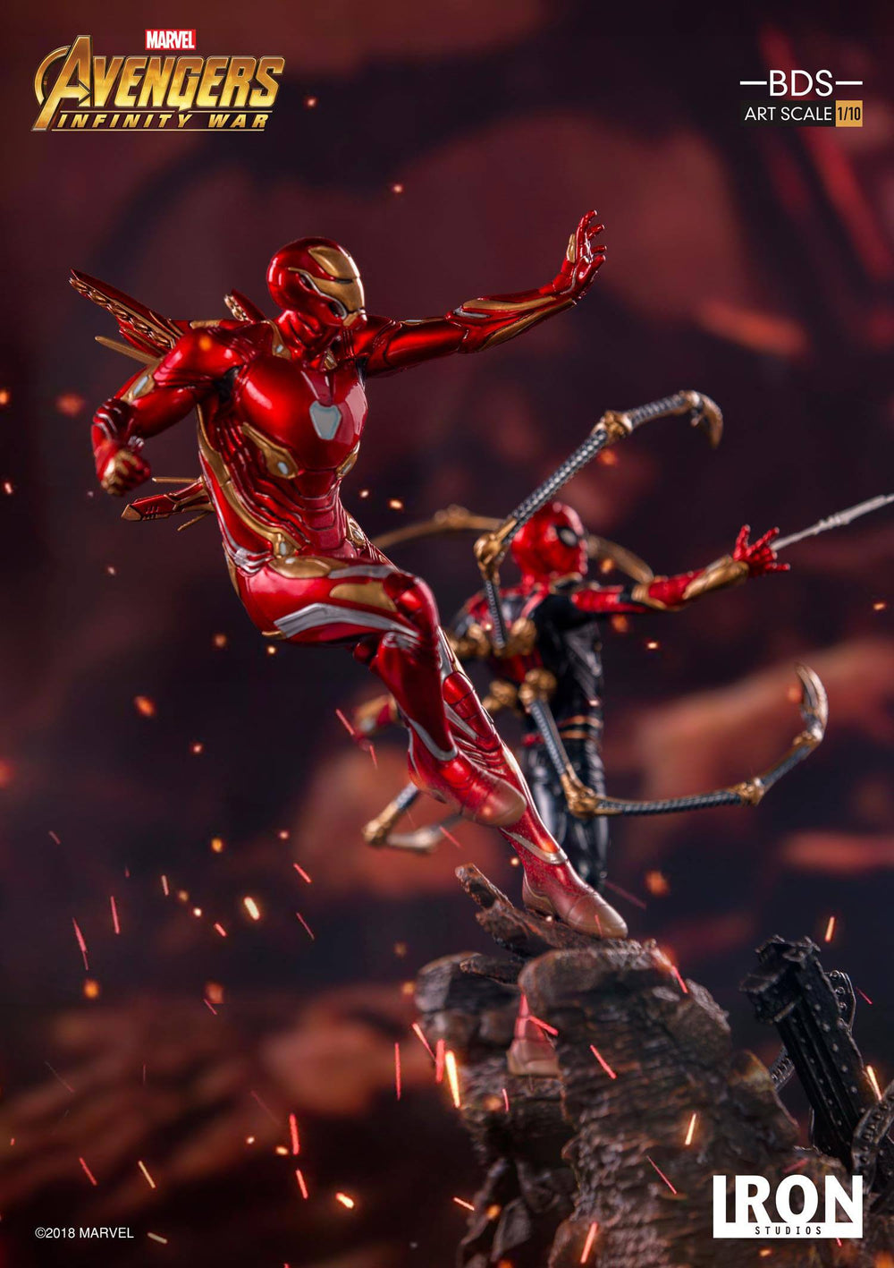 Iron Studios Avengers: Infinity War Iron Man Mark XLVIII Battle Diorama Series 1/10 Statue